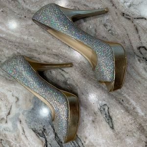Gold Holographic High Heels